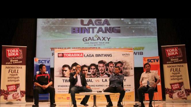 Konferensi Pers Laga Bintang Tim Nasional Vs L.A Galaxy