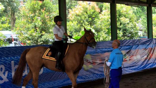 Putri Sirivannavari Nariratana berlatih di Arthayasa Stables