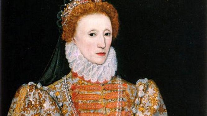Lukisan bergambar Ratu Elizabeth I