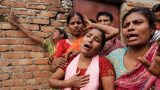 Kebakaran di permukiman kumuh Bangladesh