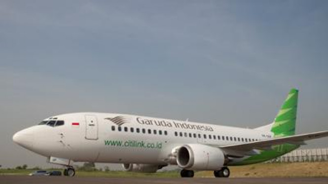 Pesawat Citilink dengan motif baru