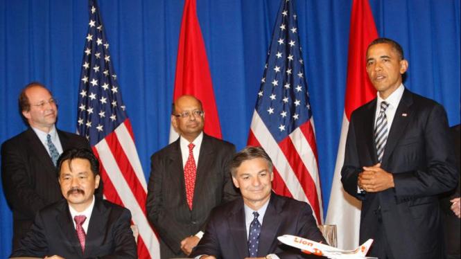 Barack Obama hadiri kesepakatan antara Boeing dengan Lion Air