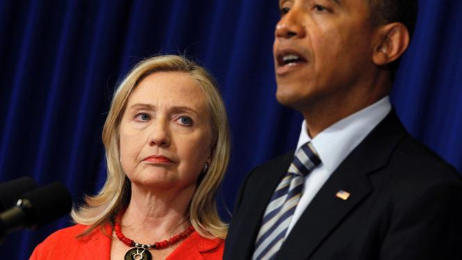 Presiden AS, Barack Obama, dan Menlu Hillary Clinton di Bali