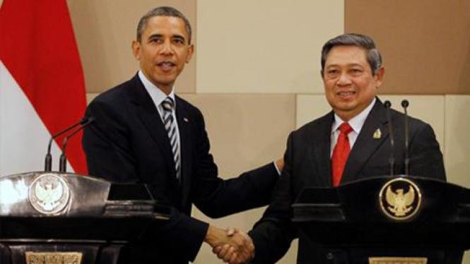 Presiden AS Barack Obama bertemu Presiden SBY di Bali