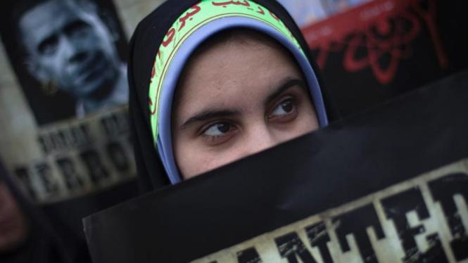 Aksi mahasiswa mendukung program nuklir Iran