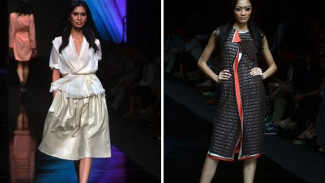 Busana karya Barli Asmara pada gelaran Jakarta Fashion Week 2012