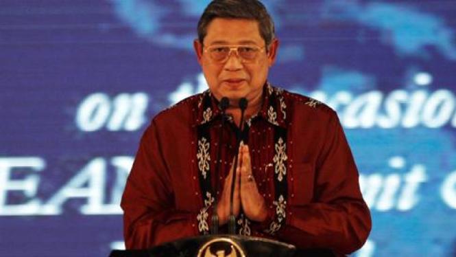 Presiden SBY pada KTT ASEAN di Nusa Dua, Bali