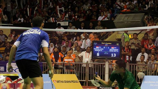 Final Ganda Putera Bulutangkis Sea Games XXVI