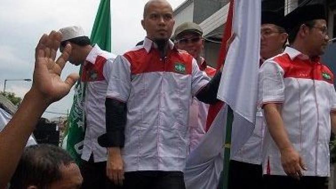 Ahmad Dhani di Kirab NU