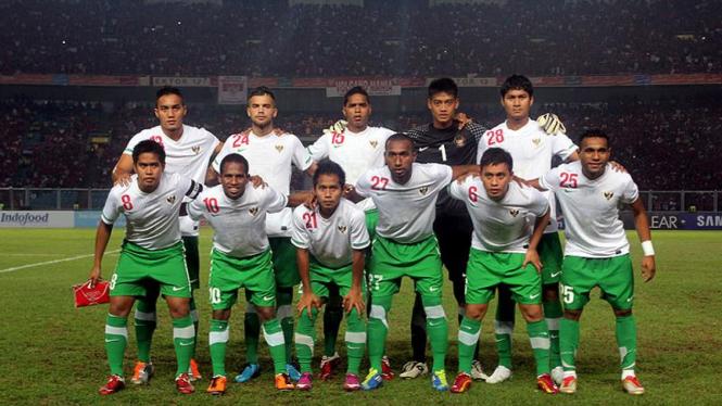 Timnas U-23 Indonesia saat melawan Vietnam di Semifinal Sea Games XXVI