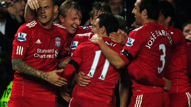Pemain Liverpool di pertandingan melawan Chelsea