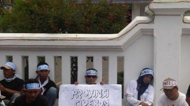 Demonstrasi mendukung pembentukan Provinsi Cirebon