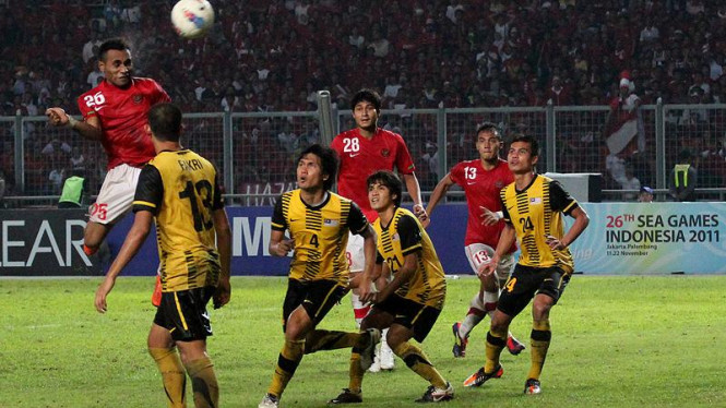 Indonesia VS Malaysia di Final Sea Games XXVI 2011