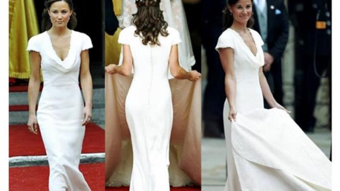 Pippa Middleton menjadi pengiring pengantin kakaknya