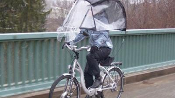Konsep sepeda beratap