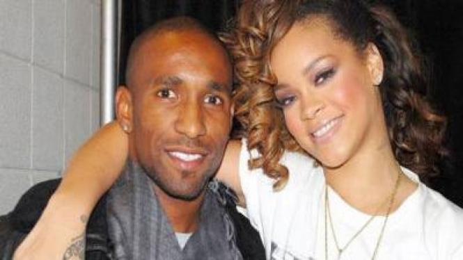 Foto bareng Jermain Deffoe dan  Rihanna
