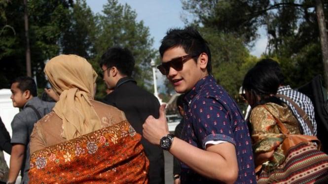Afgan Hadir di Akad Nikah Pernikahan Ibas-Aliya di Istana Cipanas