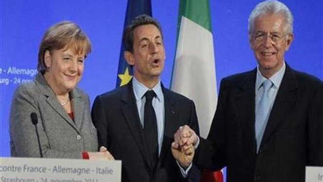 Pertemuan pemimpin Jerman, Prancis, dan Italia