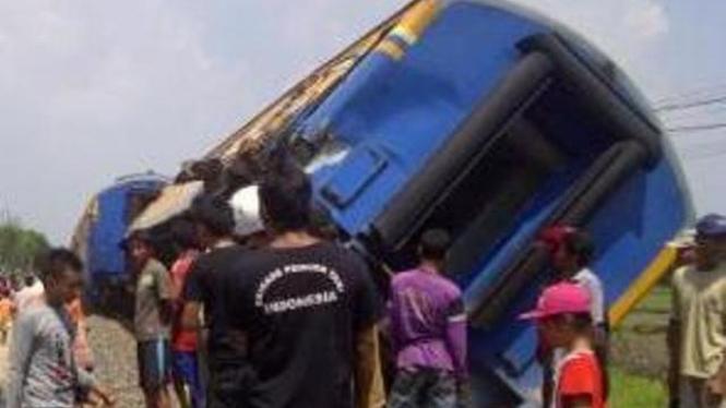 Kecelakaan Kereta di Bojonegoro