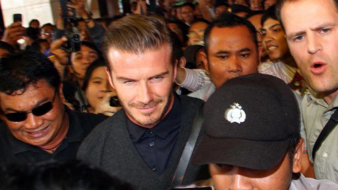 David Beckham tiba di Bandara Soekarno-Hatta