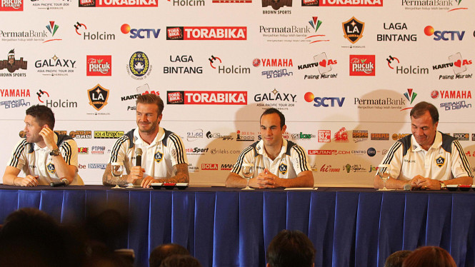 Konferensi Pers Laga Bintang L.A Galaxy Vs Tim Nasional