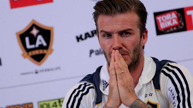 David Beckham di Jumpa Pers Timnas Indonesia VS LA Galaxy