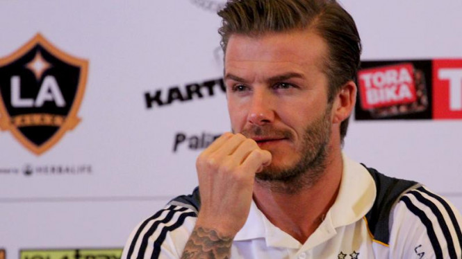 David Beckham di Jumpa Pers Timnas Indonesia VS LA Galaxy