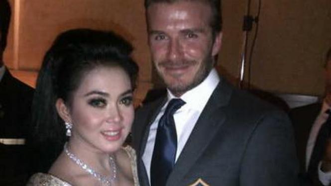 Syahrini dan David Beckham