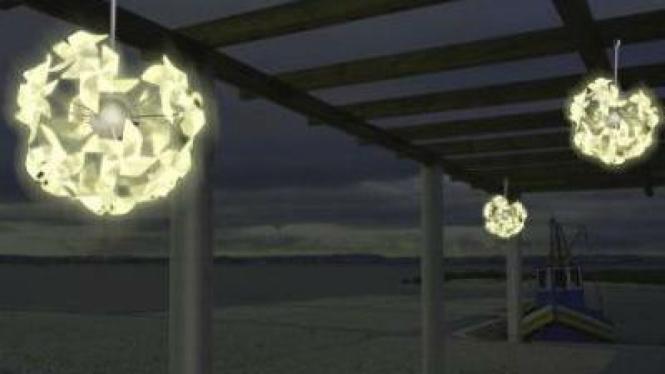 Lampu baling-baling tenaga angin
