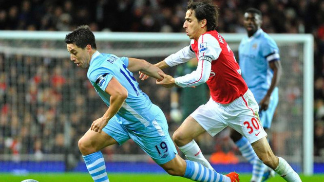 Perempat final Piala Carling Arsenal Vs Manc. City