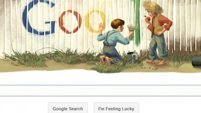 Doogle Tom Sawyer di Google