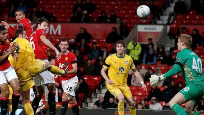 Manchester United dikalahkan Crystal Palace di Piala Carling