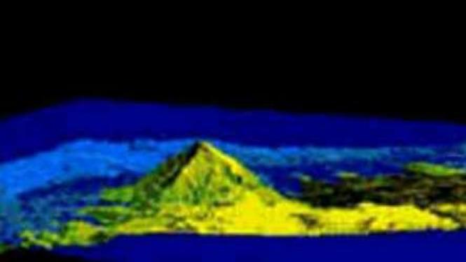Foto IFSAR Piramida Gunung Putri