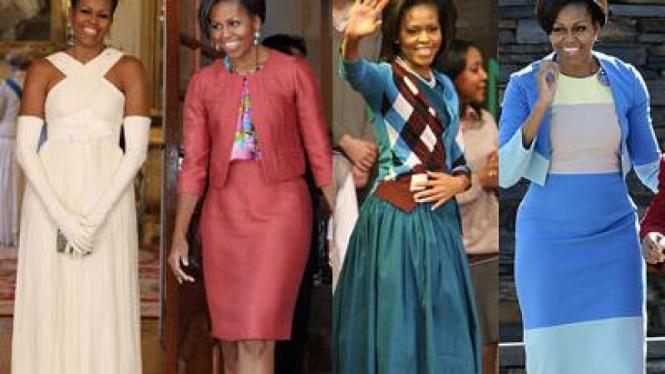 Gaya Busana Michelle Obama