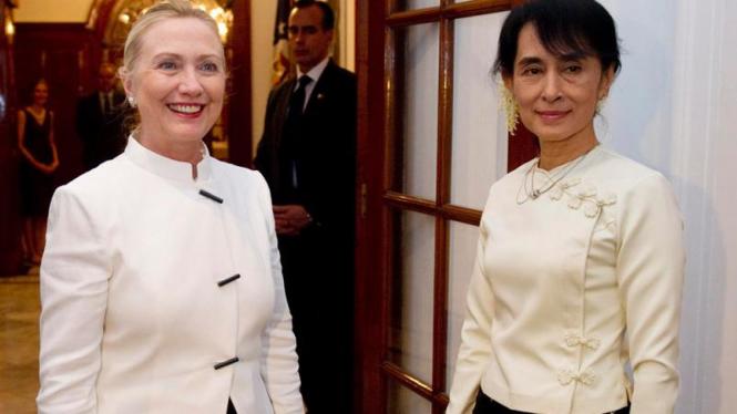 Jamuan makan malam Menlu AS dengan Aung San Suu Kyi