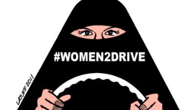 Kampanye menuntut hak menyetir perempuan, Women2Drive yang digerakkan di Arab Saudi.
