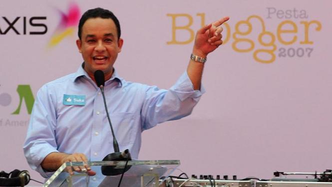 Anies Baswedan di Pesta Blogger 2011