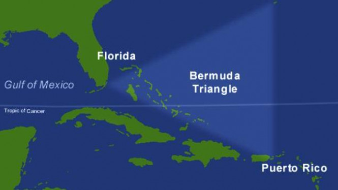 Peta kawasan Segitiga Bermuda