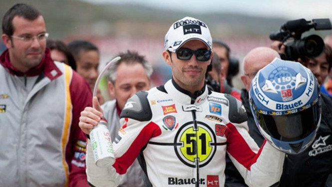 Pembalap Honda Gresini Michele Pirro