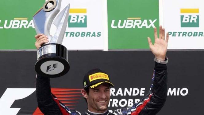 Pembalap Red Bull Racing Mark Webber