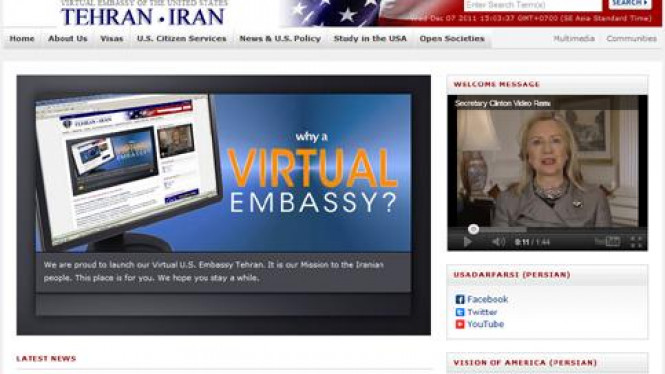Laman Kedutaan Besar virtual AS untuk Iran