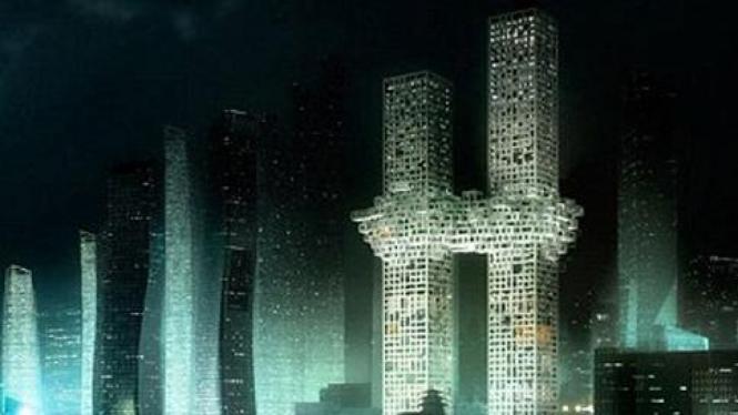 """Gedung """"Awan"""" rancangan arsitek asal Belanda"""
