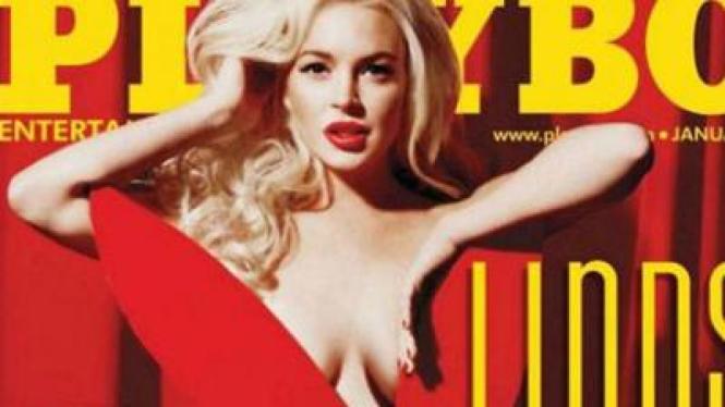 Sampul muka Playboy edisi Desember 2011 yang bocor di Internet