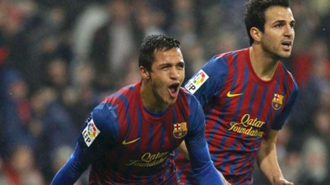 Alexis Sanchez dan Cesc Fabregas