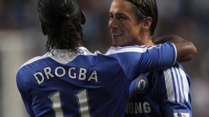 Didier Drogba dan Fernando Torres