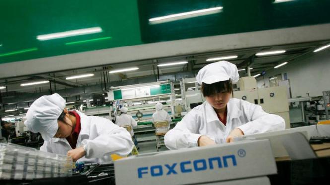 pekerja pabrik di china