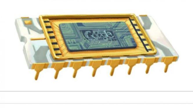 Doodle Google memperingati kelahiran Robert Noyce