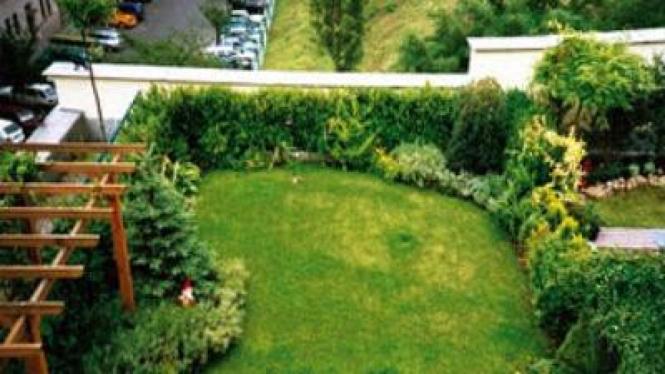 Konsep taman di atap rumah