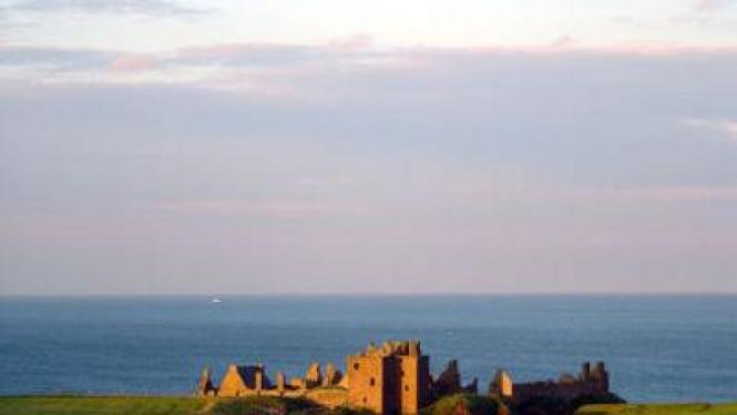 Kastil Dunnottar, di Skotlandia