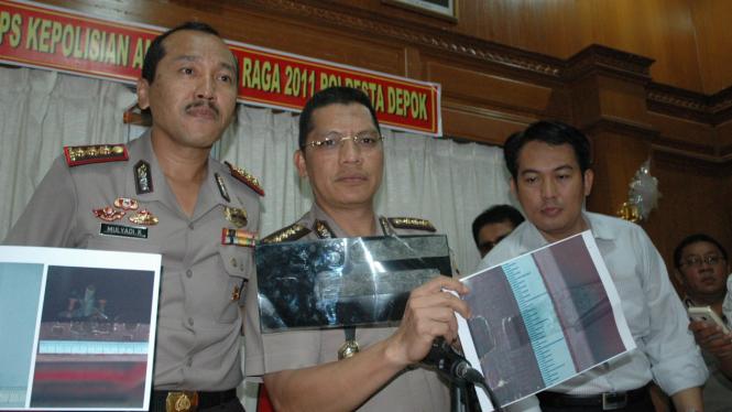 Keterangan pers di Polres Depok